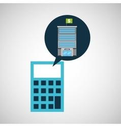 bank building finance calculator vector image