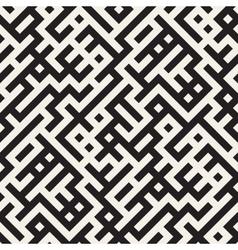 Seamless Black And White Irregular Maze vector image