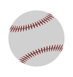 ball baseball sport competition icon vector image