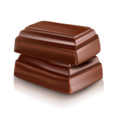 Milk chocolate bar vector