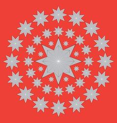 Circular stars vector image