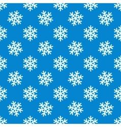 White snowflakes seamless pattern vector image
