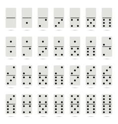 Collection of old fashioned domino set vector