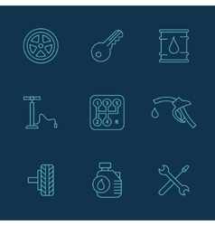 Simple set of auto related icons for your vector image