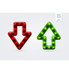 Arrows up and down icons vector image