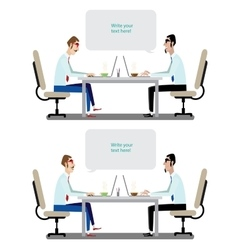 Business conversation vector