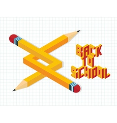 Back to school creative vector image