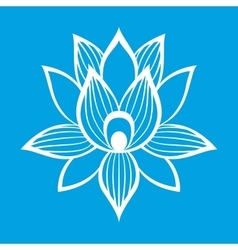 Best lotus flower sign vector