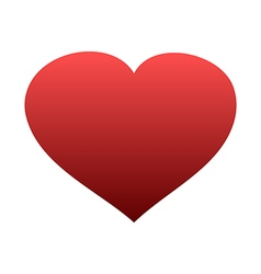 Red heart icon isolated vector