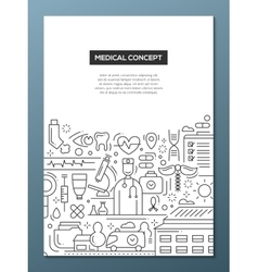 Medical Concept - line design brochure poster vector image