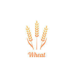 bakery logo badge with wheat vector image vector image