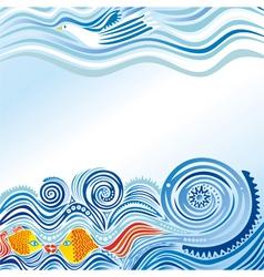 Beautiful sea wave vector
