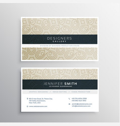Beautiful simple clean business card template vector
