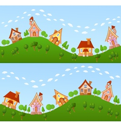 Childish background vector image