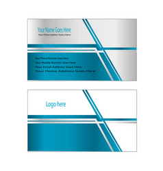 city sky line business card easy editable vector image