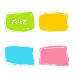 colorful rectangular banners vector image vector image
