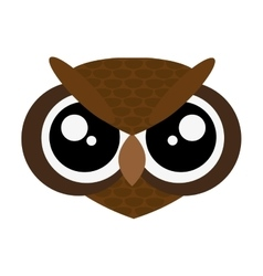 Cute owl cartoon icon vector