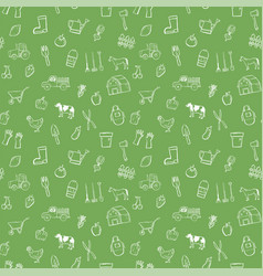 Farm seamless pattern background set vector