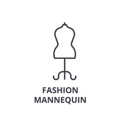 fashion mannequin line icon outline sign linear vector image vector image