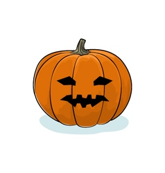 Halloween vicious pumpkin vector