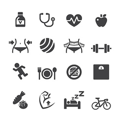 healthy icon vector image