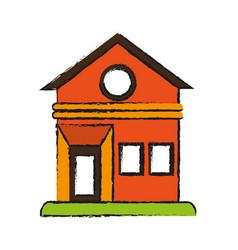 House facade draw vector