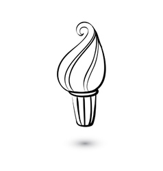 Ice cream icon on white background Doodle style vector image vector image
