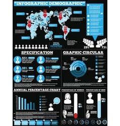 Infographic demographic modern style 1 vector