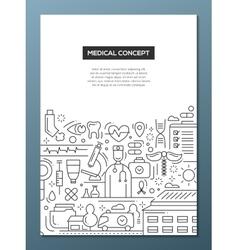 Medical concept - line design brochure poster vector