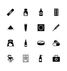 pharmacy - flat icons vector image