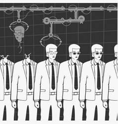 production of human clones vector image vector image