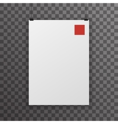 Realistic A4 Poster Transperent Icon Template vector image vector image