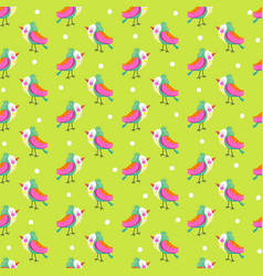 seamless background with bright bird vector image