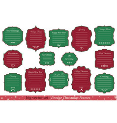 Set of vintage christmas frames vector