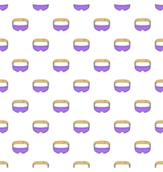 Sleep mask pattern cartoon style vector