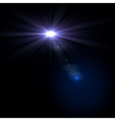 star sun with lens flare vector image vector image