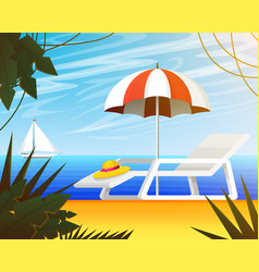 summer web banner background for travel tropical vector image