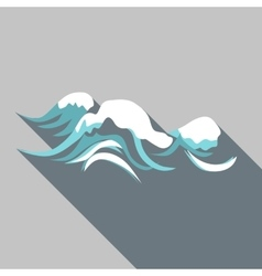 Tenth wave icon flat style vector image vector image
