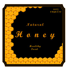 the yellow honey vector image vector image