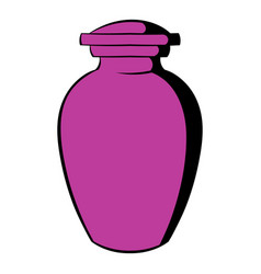 Urn for ashes icon icon cartoon vector