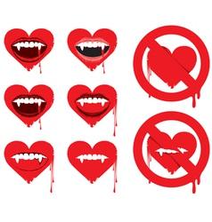 vampire heart vector image vector image