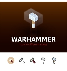 Warhammer icon in different style vector