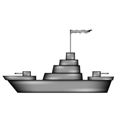 Warship sign icon vector