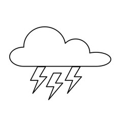 weather cloud with thunders rays vector image vector image