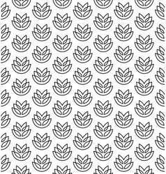 Wheat ears seamless pattern vector