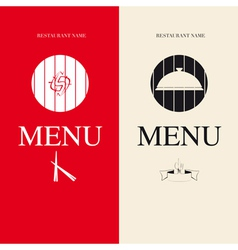 Two menu for restaurant vector