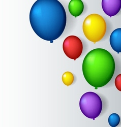 Decoration with balloons vector