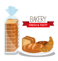 delicious bread product icon vector image