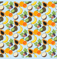 Exotic fruit pattern vector