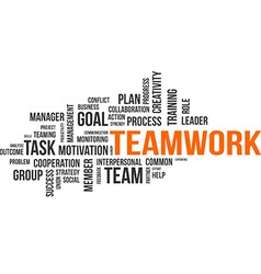 word cloud teamwork vector image